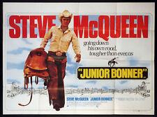 JUNIOR BONNER STEVE MCQUEEN RODEO WESTERN PECKINPAH 1972 BRITISH QUAD