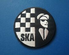 TWO TONE MADSTOCK SKA MUSIC SEW / IRON ON PATCH:- SKA 2 TONE RUDE BOY (c) DISC