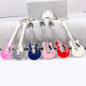 QianBei Bulk 6pcs Cute Guitar Model Key Chains Key Chain Bag Key Rings Q21G Sale