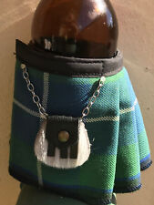Douglas Tartan Plaid Beer Bottle Koozie Mini Kilt  Christams Gift