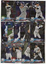 New York Yankees 2018 Topps Chrome Complete Team Set 13 Cards Gleyber Torres RC