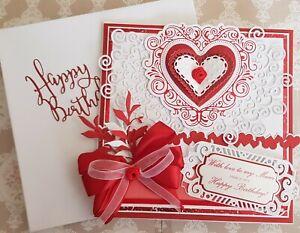 Large Luxury Handmade Personalised Birthday Card Mum/Girls/Nans and bespoke box