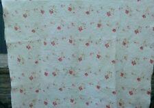 More details for antique vintage welsh handstitched whole cloth quilt reversible floral / white