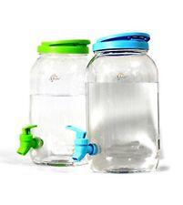 6L DOUBLE DRINKS DISPENSER- Includes 2X 3L PLASTIC JUG MASON JAR HOME PARTY PICN
