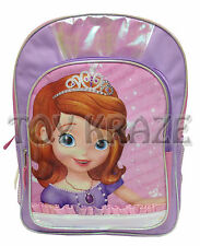"Sofia The First Backpack! Shiny Gloss Pink & Purple School Bag Disney 16"" Nwt"