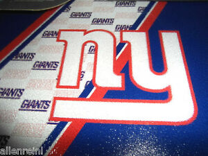 New York Giants Team Logo Glass Cutting Board with Acrylic Display Stands