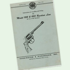 H&R 922 923 REVOLVER INSTRUCTIONS PARTS OWNERS MANUAL MAINTENANCE BREAKDOWN
