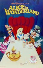 Alice in Wonderland Disney cartoon movie poster print #40