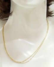 """2 Gold Plated 18"""" Sturdy Pretty Chains with Lobster Clasp Necklaces 4 Pendants"""