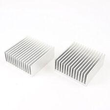 2pcs Chipset Heatsink Heat Diffuse Cooling Fin 50mm X 50mm X 20mm Aluminum cool