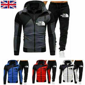 UK Hoodies Tracksuit Set  Sweatshirt Pants Bottoms Sport Jogging Suit Mens M-3XL