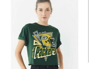 Green Bay Packers Junk Food NFL Cropped Tee Women's T-Shirt NEW