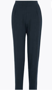 Womens Tapered Trousers Blue NEW Ex M&S Size 8 to 24 Reg Long Short Length