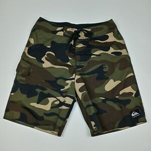 QUICKSILVER Camouflage Board Shorts Camo Unlined Men's Size 32