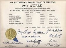 1945 UNIV. SOUTHERN CALIFORNIA BOARD OF BASKETBALL AWARD