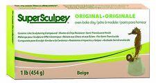 Sculpey Super Sculpturing Compound 1 lb Box Beige Polymer Clay Oven Bake Flesh