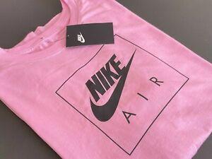 NWT Nike Air Box Dri-Fit Swoosh Men's XL Pink S/S T-shirt