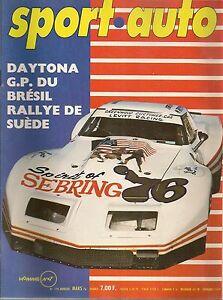 SPORT AUTO 170 1976 24H DE DAYTONA GP DU BRESIL RALLYE DE SUEDE FERRARI 308 GTB