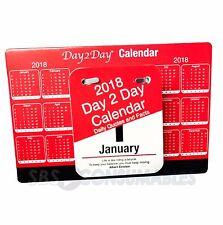 Tallon 2018 giorno 2 GIORNO quotidiano strappare giorno Calendario da scrivania Blocco Per Visualizzare 038681