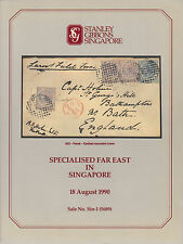 Specialized Far East, Stanley Gibbons Singapore, Sale 1, August 1990
