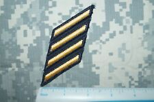 US Army Enlisted Service Stripes (4) 12 Years Sew-on Dress Uniform Gold/Black