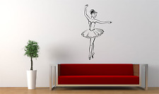 Ballerina Dancer Transfer Wall Art Decal Sticker W31