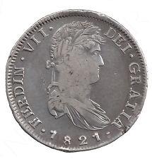 8 Reales plata 1821 Zacatecas (Mexico) Rey de España FERNANDO VII