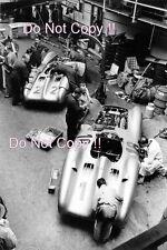 Mercedes Benz W196 en su garaje francés Grand Prix 1954 fotografía
