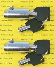 2x Admiral Vending Machine T Handle Locks Plug Keyed Alike Cylinder Plug Locks