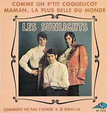 """45 T EP  LES SUNLIGHTS  """"MAMAN LA PLUS BELLE DU MONDE"""""""