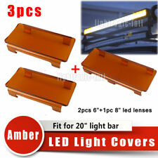 "20"" Inch 120W Snap on Amber LED Light Bar Lens Covers Set Jeep SUV Offroad 4x4"