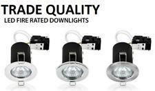Fire Rated | IP65 Bathroom LED GU10 Flush Ceiling Spot Lights Down lights Modern