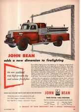 1953 International Harvester Fire engine ad with John Bean pumps