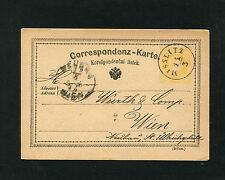 """Österreich  """"Misslitz"""" 1875 auf Ganzsache - Mähren    (#890)"""