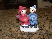 """Enesco Simon & Schuster Raggedy Ann Andy """"To have a friend is to be happy"""" Fig"""