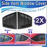 2pcs Rear Quarter Panel Window Side Louvers Vent For Mazda3 4 Door 2014 -