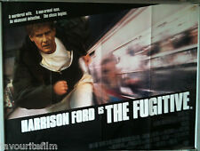 Cinema Poster: FUGITIVE, THE 1993 (Main Quad) Harrison Ford Tommy Lee Jones