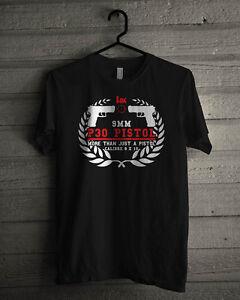 Heckler Koch P30 Backup Black T-Shirt Size S-3XL