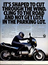 1986 BMW K75 Motorcycle Photo AD Collectible Advertising