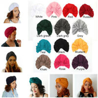 Women's Knotted Hat Set Head Hair Wrap Cap India's Hat Turban Headwear Cover