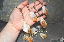 Raw Crystal Keyring healing stone CITRINE reiki chakra protection gemstone