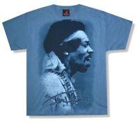 Jimi Hendrix Bandana Portrait Image Blue T Shirt New Official Merch