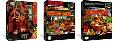 Donkey Kong Country SNES Replacement Game Case Box + Cover Art work (No Game)
