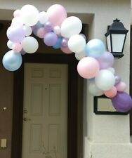 Unicorn Birthday Party 6 Foot Pastel Latex Balloon Garland Party Kit, Complete