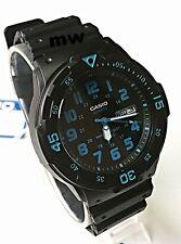 New Casio Men's Teens Watch 100M Date Day Quartz Analog Black Rubber MRW-200H-2B