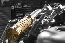 "Deep Six Cycles 1"" Polished Brass Hand Grips Harley Chopper bobber"