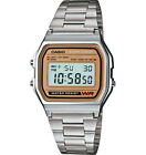 Casio Classic Mens Quartz Digital Gold-Tone Face Bracelet 33mm Watch A158WEA-9