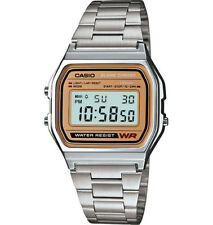 Casio Classic Men's Quartz Digital Gold-Tone Face Bracelet 33Mm Watch A158wea-9