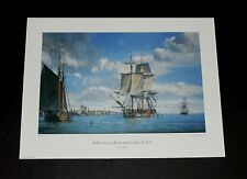 Geoff Hunt - HMS Active in Boston Harbor - Nautical & Maritime Print