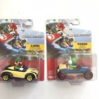 Mariokart Cars Yoshi Luigi Cars 2-Pack Ages 3+ Toys Size 3 Inches New
